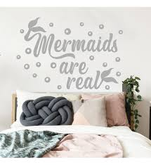 Mermaids Are Real Wall Decal Girl Room Decor Quote Decal Nautical Nursery Decal Mermaid Tail Decal Nautical Decor Mermaid Decal