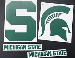 Nudge Printing Michigan State University Msu Spartans Sparty Corn Hole Bean Bag Toss Tailgate Game Xl Car Vinyl Stickers Decals Set