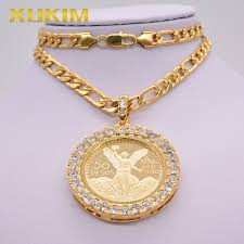 jewelry gold coin pendant mexican pesos