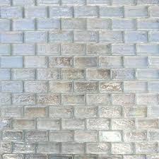 iridescent brick glass mosaic tile