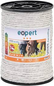 Voss Farming Electric Fence Rope 200m 6mm 7x0 20 Stainless Steel Conductors White Color Ideal For Horses Ponies Donkeys Cattle Goats Etc Amazon Co Uk Pet Supplies