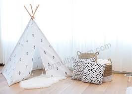 Play Teepee For Kids 100 Cotton Canvas And Bamboo Poles Portable Indoor Tent For Children Great For Boy And Girls By From The Avenue Double Triangle B01h18pr56 B01h18pr56 90 59
