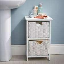 wicker style bathroom drawer unit