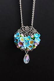 forget me not necklace blue flower