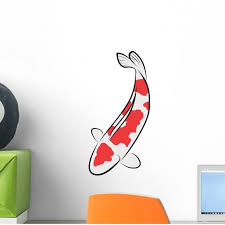 Koi Fish Vector Wall Decal Sticker By Wallmonkeys Vinyl Peel And Stick Graphic 12 In H X 6 In W Walmart Com Walmart Com