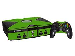 Amazon Com Monster Green Vinyl Decal Faceplate Mod Skin Kit For Microsoft Xbox Original Console By System Skins Video Games