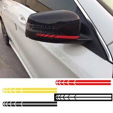 4pcs Car Sticker Rearview Mirror Side Decal Stripe Truck Vehicle Body Decoration Garnabdeahdera44