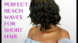 how to create beach waves on short hair
