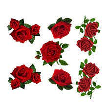 Red Roses Decal Set Azvinylworks