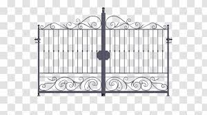 Gate Fence Wrought Iron Area Transparent Png