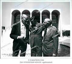 May 05, 1976 - Fred Astaire - Gene Kelly - NYC Mayor Abraham Beame  presented special citation &..., Stock Photo, Picture And Rights Managed  Image. Pic. ZUK-19760505-BAF-K09-039 | agefotostock
