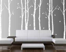 Birch Tree Painting Large Original Art Autumn Birch Aspen Etsy Nursery Wall Decals Tree Birch Tree Decal Nursery Wall Decals