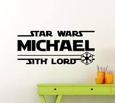 Personalized Star Wars Wall Decal Sith Lord Custom Name Boy Etsy