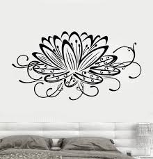 Vinyl Wall Decal Lotus Flower Water Lily Floral Art Stickers Unique Gi Wallstickers4you