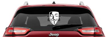 Guy Fawkes Mask Vinyl Decal Anonymous Mask Laptop Decal Cd