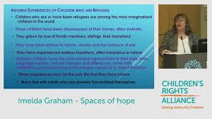 Moving in the Right Direction: Child Refugee Symposium: Imelda Graham -  YouTube