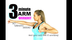 3 minute arm toning workout no
