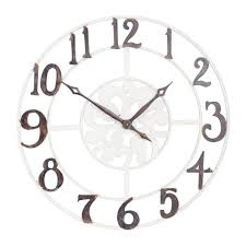 household essentials numbers wall clock
