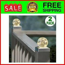 Solar Post Cap Lights 4x4 Outdoor Waterproof Led Deck Fence Post Cap Lighting 8414763393316 Ebay