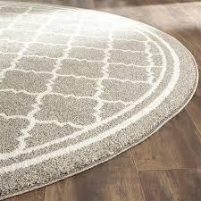 contemporary round rug in dark gray 5