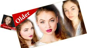 yourself look older with se makeup