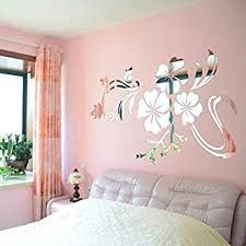 Amazon Com Jaromepower 3d Mirror Vinyl Removable Wall Sticker Decal Home Decor Art Diy Sliver Kitchen Dining