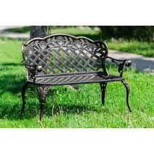 crowe lattice metal garden bench