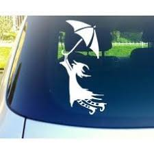 Flying Witch With Umbrella Automobile Tablet Decal Tablet Pc Sticker W Mymonkeysticker Com