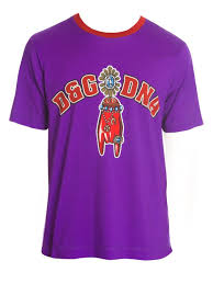 d g dna graphic tee purple men t shirts