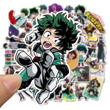 Mega Discount Dc95 50pcs Pack Anime My Hero Academia Cartoon Sticker Diy Skateboard Guitar Motorcycle Laptop Luggage Kids Classic Toy Decal Sticker Cicig Co