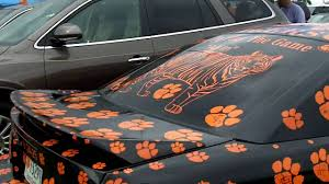Autographed Clemson Tiger Paw Car Youtube