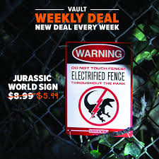 Loot Crate On Twitter Welcome To The Weekly Deal Show Off Your Love For All Things Dinos With This Jurassic World Sign You Can Mount This On Almost Any Fence Wall Or High Tech
