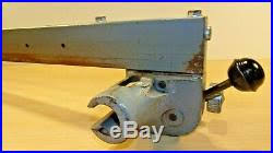 Vintage 10 Delta Rockwell Table Saw Unisaw Jet Lock Rip Fence 27 1 38 Tube Table Saw Fence