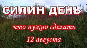 12 августа праздник СИЛИН ДЕНЬ | Что НУЖНО сделать в День Силы ...