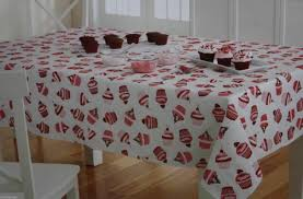 valentine s day vinyl tablecloth white