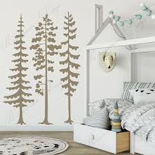 Large Size Nature Pine Tree Forest Wall Stickers Vinyl Home Decor Kids Room Woodland Nursery Wall Decals Removable Mural 3a59 Wall Stickers Aliexpress