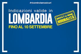 Ordinanza n. 590 del 31/7/2020 di Regione Lombardia valida fino al 10  settembre 2020 - Comune di Cormano