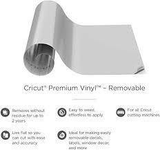 Amazon Com Cricut Premium Vinyl Removable 12 X 48 Adhesive Decal Roll Gray Arts Crafts Sewing