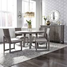 Shop Liberty Furniture Modern Farmhouse Round Dining Room Set In Dusty Charcoal