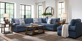 Highland Lakes Blue 2 Pc Sectional Rooms To Go