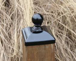 6x6 Post Cap For Wood Fence Post Large Wrought Iron Etsy