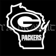Decal For Green Bay Packers Wisconsin State Map Window Wall Nfl Football Ebay