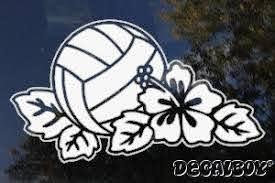 Volleyball Decals Stickers Decalboy