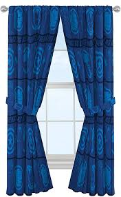 Amazon Com Marvel Avengers Blue Icons 84 Inch Drapes Beautiful Room Decor Easy Set Up Bedding Features Captain America Iron Man Curtains Include 2 Tiebacks 4 Piece Set Official