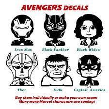 Car Decal Marvel Avengers Team Comics Hero Vinyl Laptop Sticker Avengers Team Family Car Decals Family Decals
