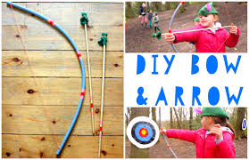 diy bow and arrow for kids the