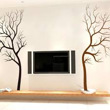 Large Size Classic Black Brown Tree Wall Stickers Home Decor Living Room Office Nursery Decoration Vinyl Wall Decals Mural Art Tree Wall Sticker Vinyl Wall Decalswall Sticker Aliexpress