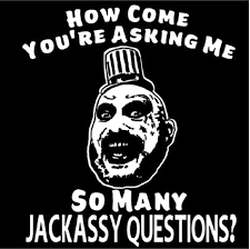 Amazon Com Jackassy Captain Spaulding Devils Rejects Horror White Vinyl Decal Bumper Computer Sticker Cling Scary Halloween Everything Else