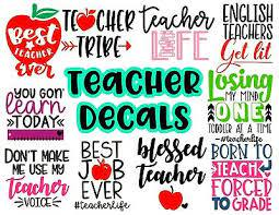 Teacher Quote Decal Vinyl Sticker With Funny Sayings For Car Notebook Cup Ebay