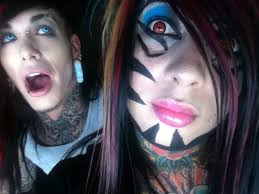 cool dahvie vanity tattoo on face